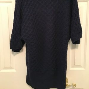 Soft Chunky Blue Cowl Neck Sweater Old Navy M